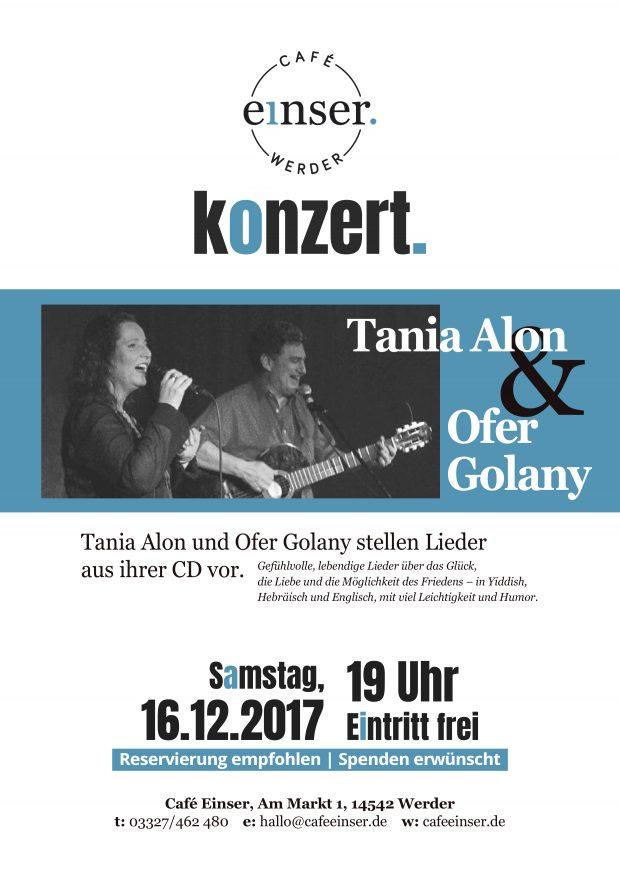 Konzert - Tania Alon & Ofer Golany stellen Lieder aus ihrer CD vor @ Café Einser Werder | Werder (Havel) | Brandenburg | Deutschland